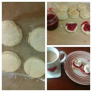 scones and jam.