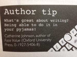 writing in pjs