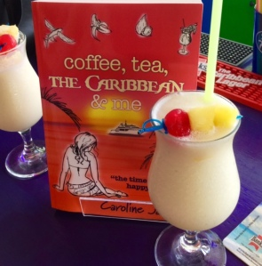 book and pina colada