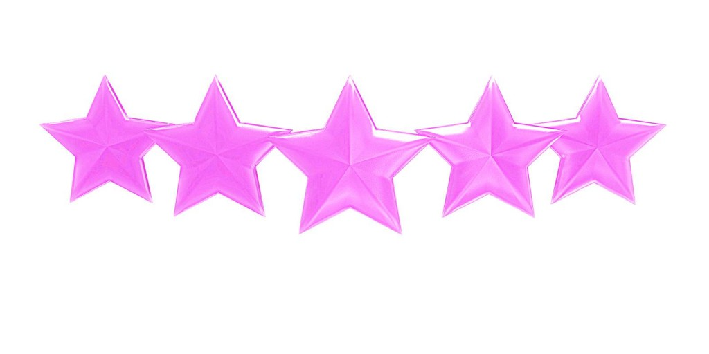 five pink stars